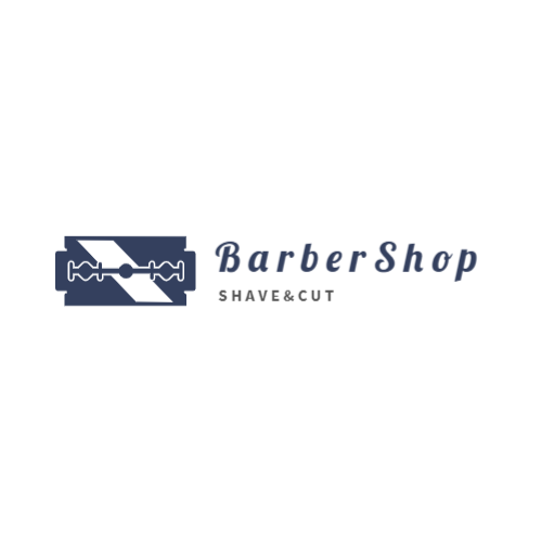 Barbershop logo with blade