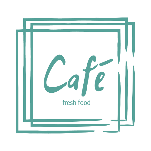 Café, Fresh Food Logo