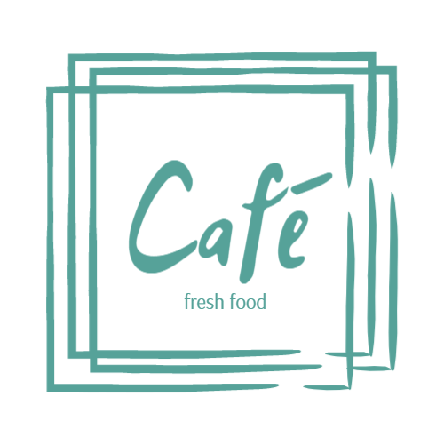 Logo design for cafe with fresh food