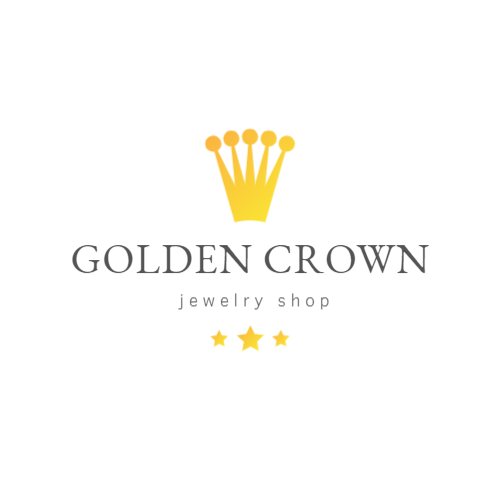 Golden crown logo for store