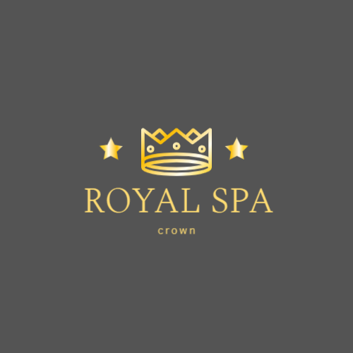 Luxury spa salon logo with crown