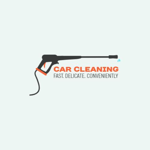 Car Wash Hose logo design