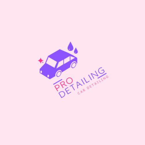 фиолетовый автомобиль и капли логотип