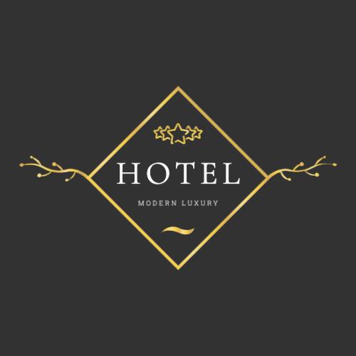 Luxury modern hotel logo
