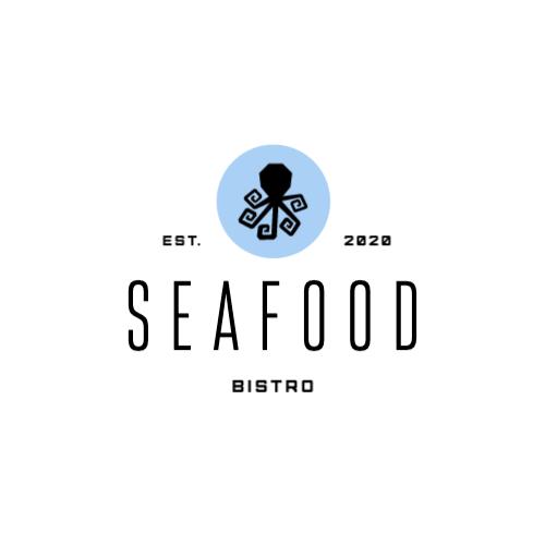 Seafood, Bistro, Est., 2020 Logo
