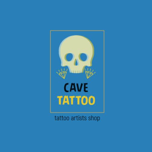 Blue Skull & Diamonds logo