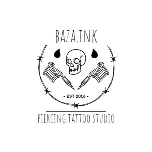 Tattoo Machines & Skull logo