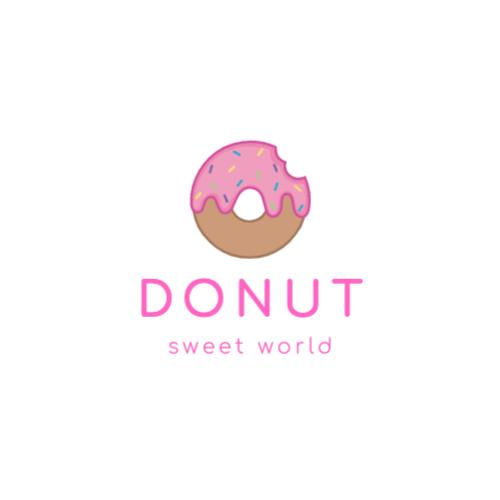 розовый пончик логотип