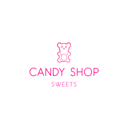 Candy shop logo with gummy bear