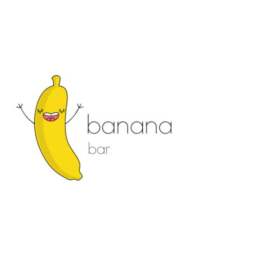 милый желтый банан логотип