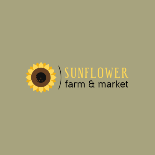 Sunflower flower logo design