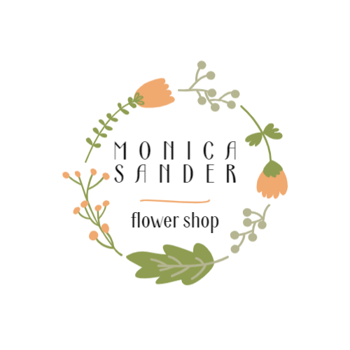 Drawings of different flowers logo