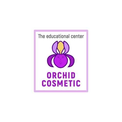 Purple Orchid Flower logo