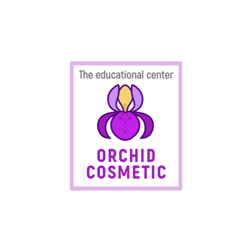 Purple Orchid Flower logo