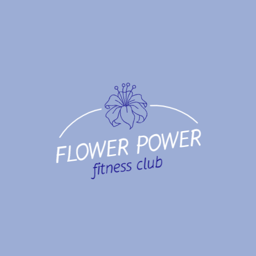 Blue flower logo